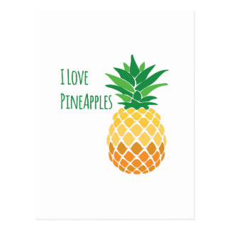 Ananas d'amour carte postale