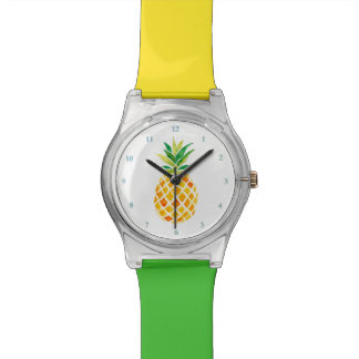 ananas d'aquarelle montre
