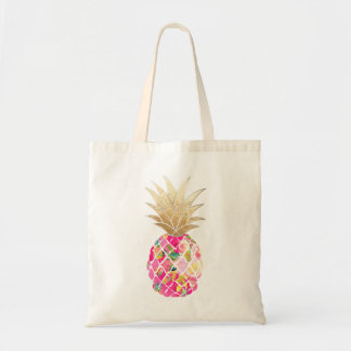 Ananas de PixDezines Aloha+Or de Faux Sac Fourre-tout