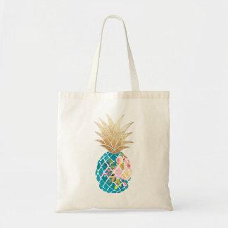 Ananas de PixDezines Aloha+Or de Faux Sacs En Toile