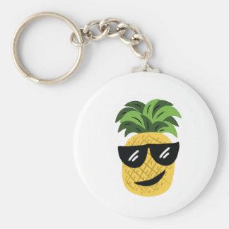 Ananas génial porte-clé rond