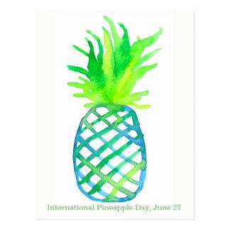Ananas jour 27 juin international carte postale