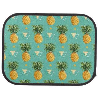Ananas lumineux sur le motif géométrique tapis de voiture