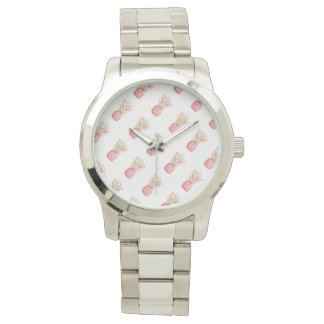 Ananas   rose tropical montres bracelet