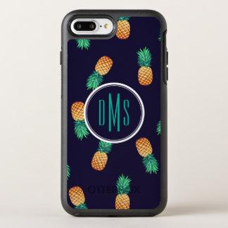 Ananas sur le monogramme de la marine | coque otterbox symmetry pour iPhone 7 plus