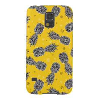 Ananas sur l'or coques pour galaxy s5