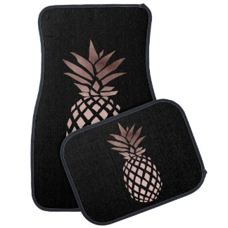 ananas tropical de feuille d'or rose claire tapis de sol