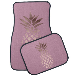 ananas tropical de feuille d'or rose claire tapis de voiture
