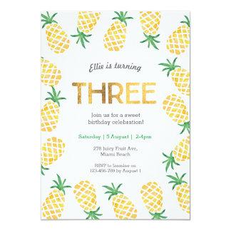 Ananas tropical de l'invitation | d'anniversaire carton d'invitation  12,7 cm x 17,78 cm