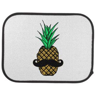 Ananas tropical drôle avec la moustache tapis de voiture