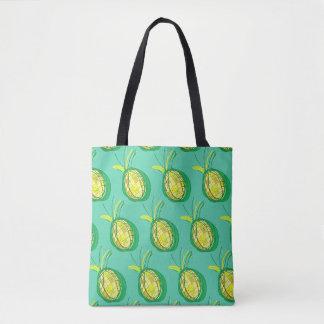 Ananas tropical tote bag