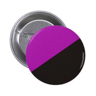 anarchie noire pourpre de drapeau du féminisme d'a pin's avec agrafe