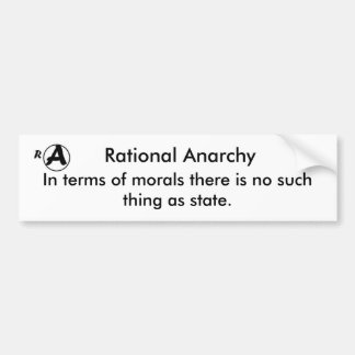 Anarchie rationnelle autocollant de voiture