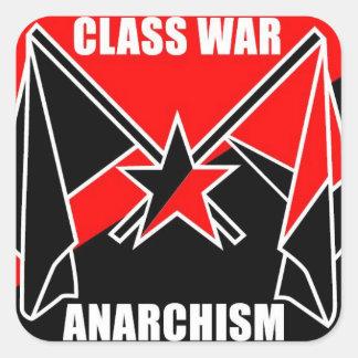 Anarchisme de guerre de classe autocollant carré
