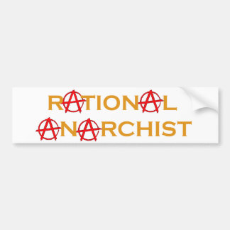 Anarchiste rationnel adhésifs pour voiture
