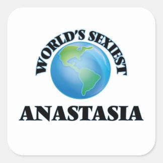 Anastasia la plus sexy du monde autocollants carrés