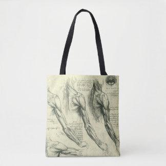 Anatomie de bras et d'épaule par Leonardo da Vinci Tote Bag