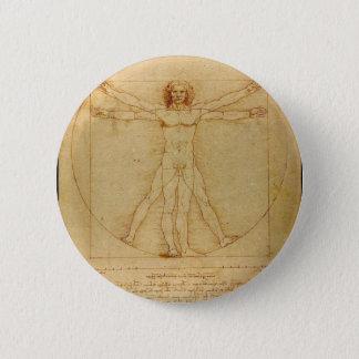 Anatomie humaine, homme de Vitruvian par Leonardo Badges
