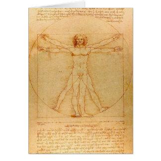 Anatomie humaine, homme de Vitruvian par Leonardo Carte De Vœux