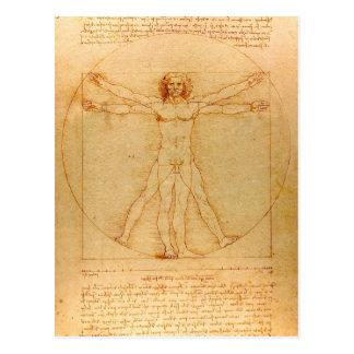 Anatomie humaine, homme de Vitruvian par Leonardo Carte Postale