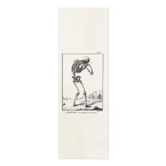 Anatomie médicale squelettique humaine antique vin cartes de visite personnelles