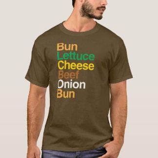 Anatomie typographique de T-shirt de cheeseburger