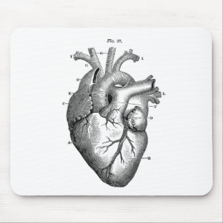 Anatomie vintage | de coeur personnalisable tapis de souris