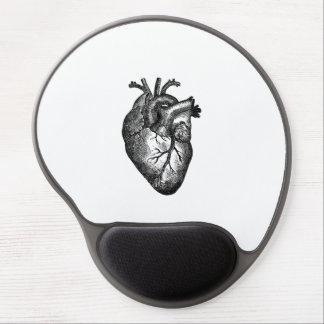 Anatomie vintage de coeur tapis de souris avec gel