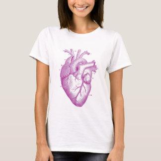 Anatomie vintage pourpre de coeur t-shirt