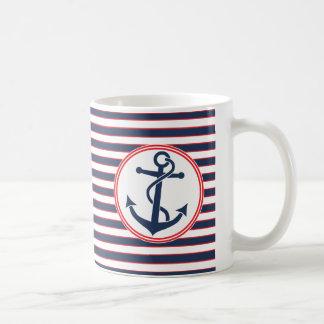 Ancre avec des rayures mug