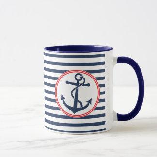 Ancre avec des rayures mugs