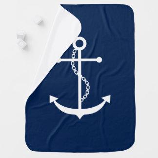 Ancre bleue élégante couvertures pour bébé