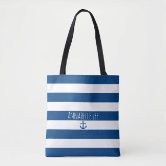 Ancre bleue tote bag