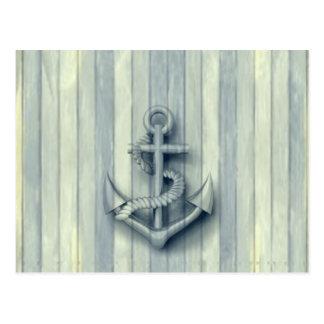 Ancre chique nautique vintage carte postale