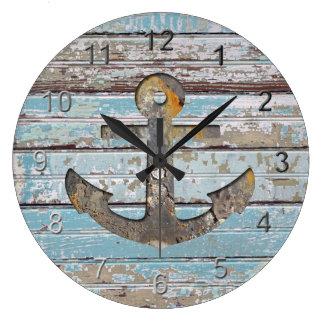 Ancre côtière grande horloge ronde