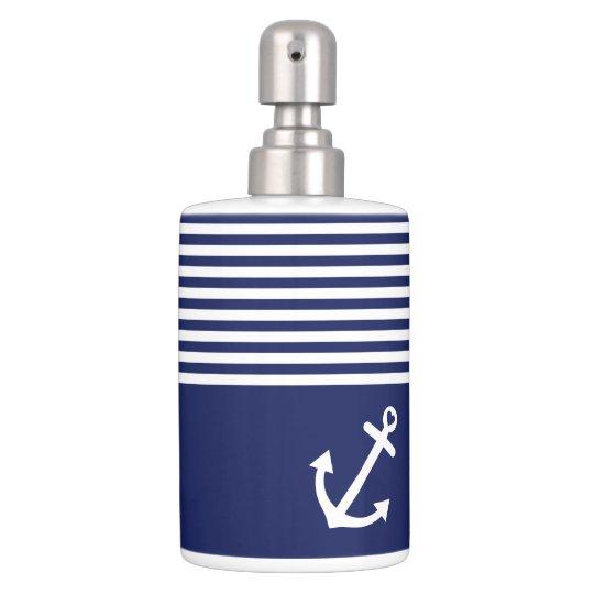 ancre d 39 amour de bleu marine nautique sets de salle de bain zazzle. Black Bedroom Furniture Sets. Home Design Ideas