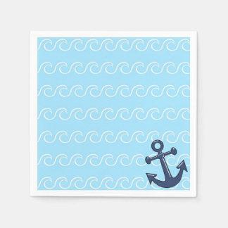 Ancre dans les vagues serviettes en papier