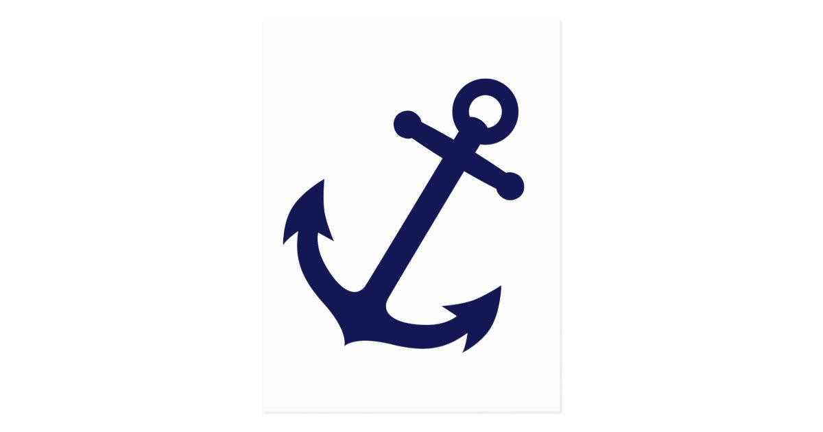 Ancre de bleu marine carte postale zazzle - Ancre marine dessin ...