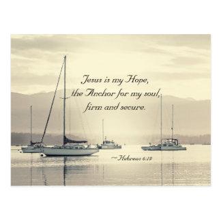 Ancre de Jésus de 6h19 d'Hébreux pour mon âme, Carte Postale