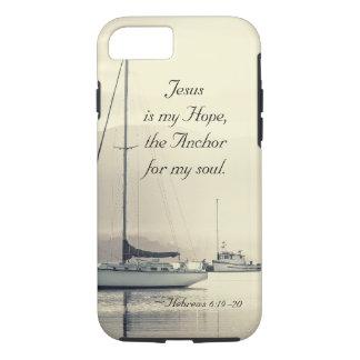 Ancre de Jésus de 6h19 d'Hébreux pour mon âme, Coque iPhone 7