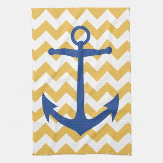 Ancre de marine et serviette de cuisine faite sur