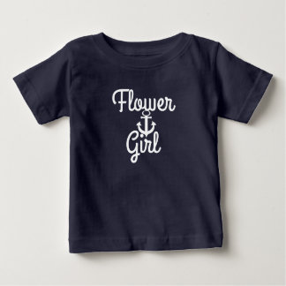 Ancre et demoiselle de honneur nautique de mariage t-shirt pour bébé