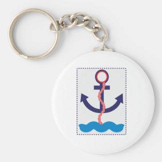 Ancre et océan porte-clés