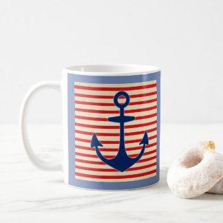 Ancre et rayures mug