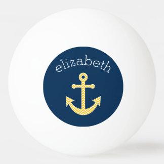Ancre nautique avec le motif de Chevron de jaune Balle Tennis De Table