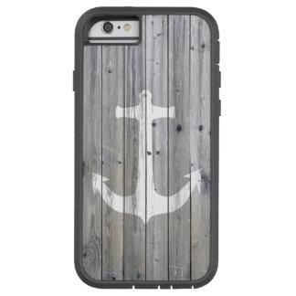 Ancre nautique blanche vintage de hippie sur le coque iPhone 6 tough xtreme