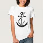 Ancre nautique de marine de marine de bateau t-shirts