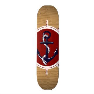 Ancre nautique de roues de bateaux sur le grain en skateboard  20 cm