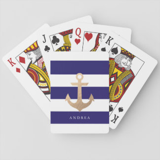 Ancre nautique personnalisée de | jeux de cartes