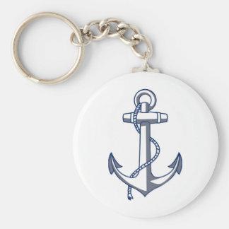 Ancre nautique porte-clé rond